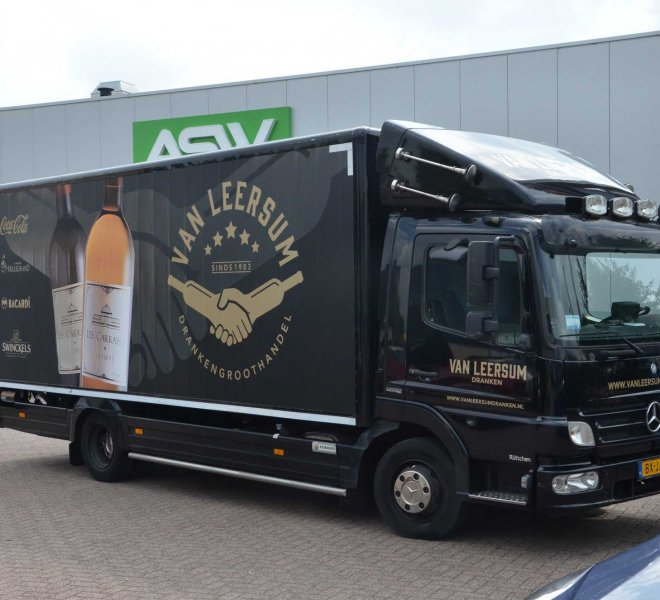 Vrachtwagenreclame Mercedes FullClour